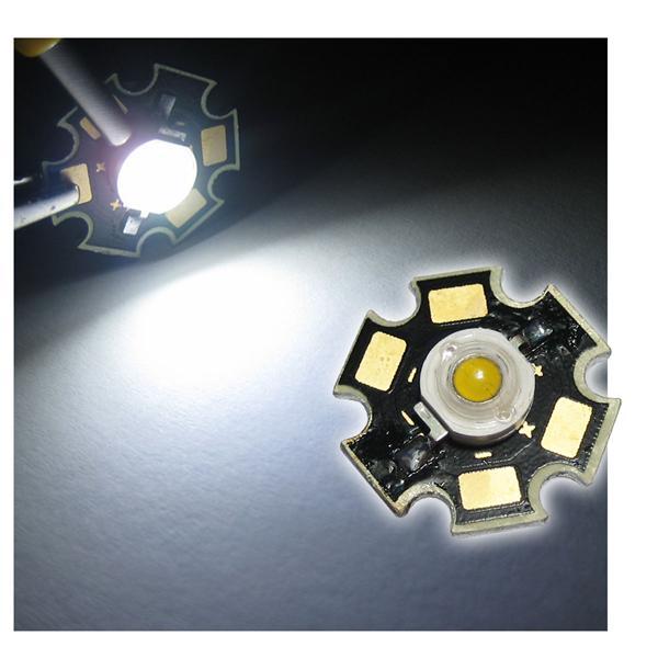 Highpower LED 3W pur-weiß auf PCB - WHITE