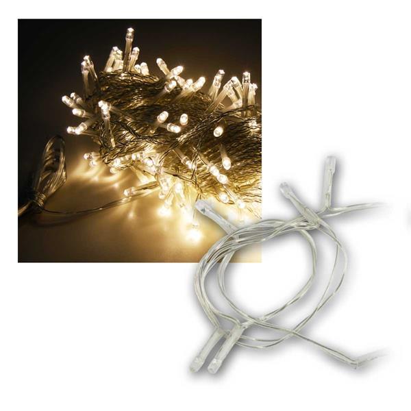 LED Lichterkette, 200 LEDs, warmweiß, IP44, 20m