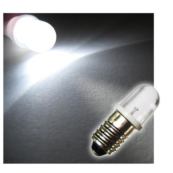 1 Stück LED-Schraubsockel Birne WEISS 12V DC - E10