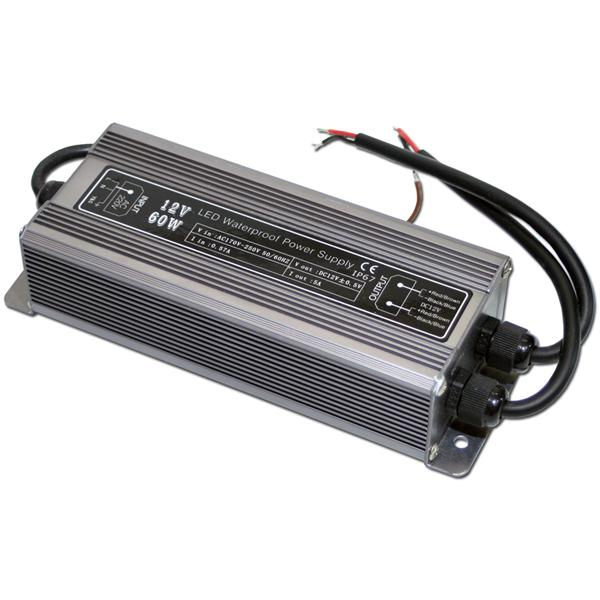LED Transformator 60W Driver, 12V DC, IP67, Trafo