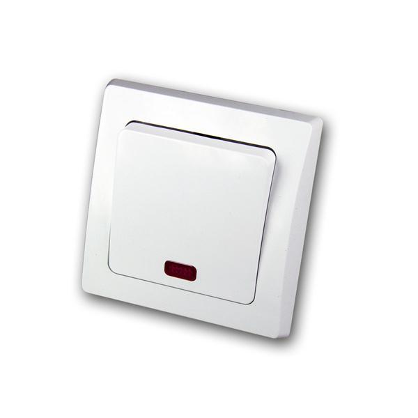 DELPHI Kontroll-Schalter 250V~/ 10A, UP, weiß