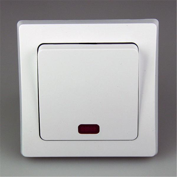 Wipp-Schalter für 230V beleuchtet bei geöffneten Schalter