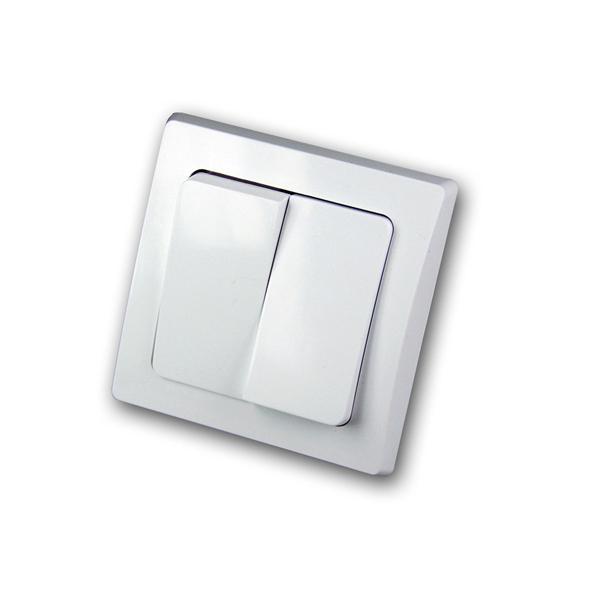 DELPHI 2-fach Serien-Schalter 250V~/ 10A, UP, weiß