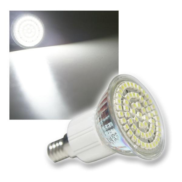 LED-Strahler 60x 3528 SMD LEDs E14 kalt weiß 3W