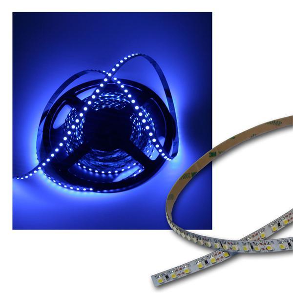 500cm FLEX SMD Streifen 600 LEDs BLAU / PCB-weiß