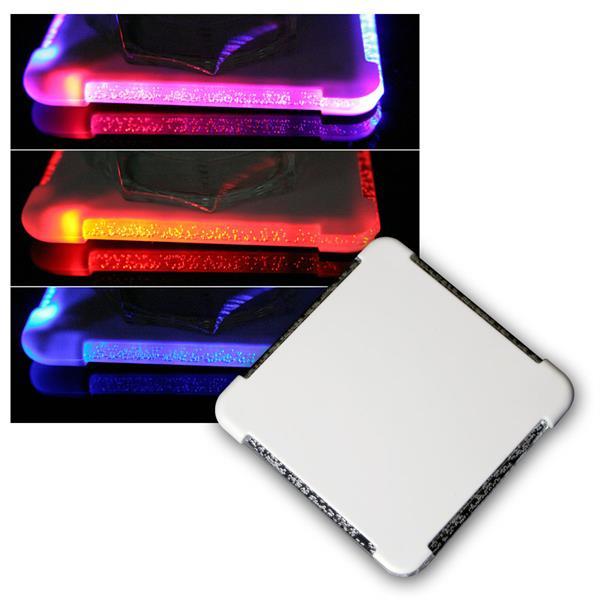 LED Glasuntersetzer mit Farbwechsel RGB LEDs