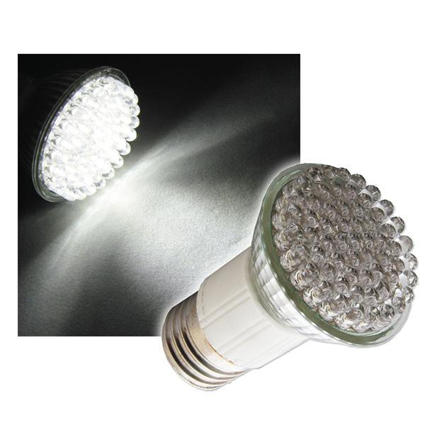LED-Strahler E27 pur-weiß 60x4,8mm LEDs 230V
