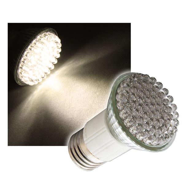 LED Strahler E27 warm weiß 60x4,8mm LEDs 230V