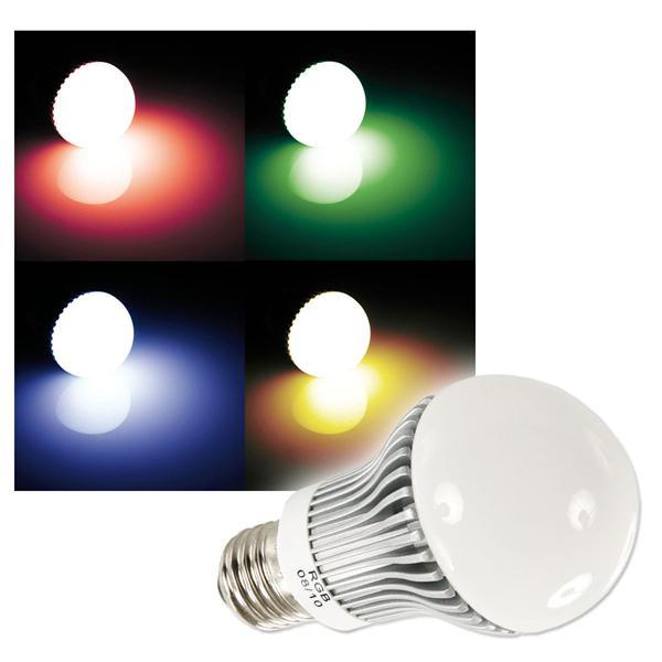 LED-Birne E27 RGB mit Farbwechsel 230V 5W AGL-Form