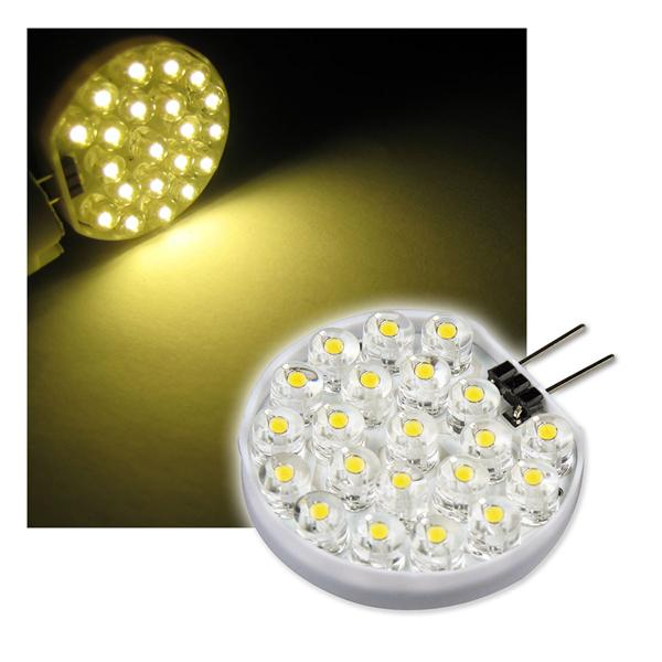 LED-Stiftsockellampe G4 rund 21 LEDs warm weiß