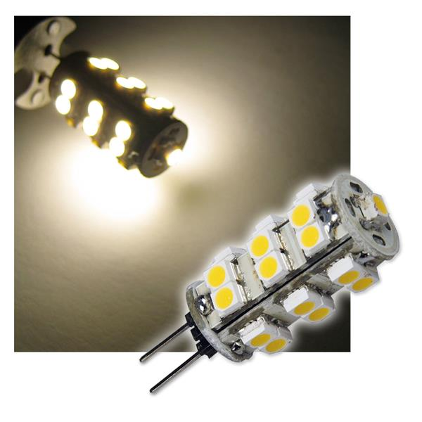 LED-Stiftsockellampe G4 25 SMD LEDs warm weiß 72lm
