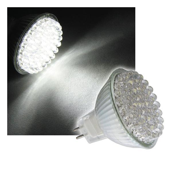LED-Strahler MR16 pur-weiß 60 x 4,8mm LEDs 12V