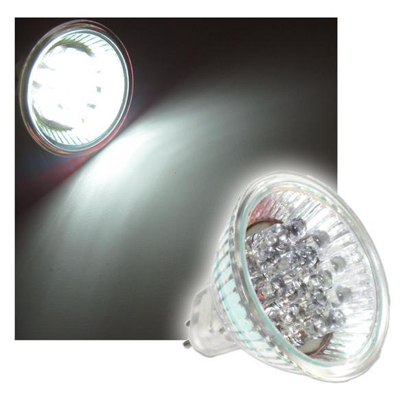 LED-Strahler mit 15 LEDs  MR16 pur weiß 12V