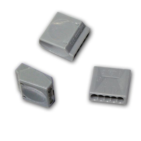 10x WAGO Steckklemme 5x1,5 mm² Dosenklemmen grau