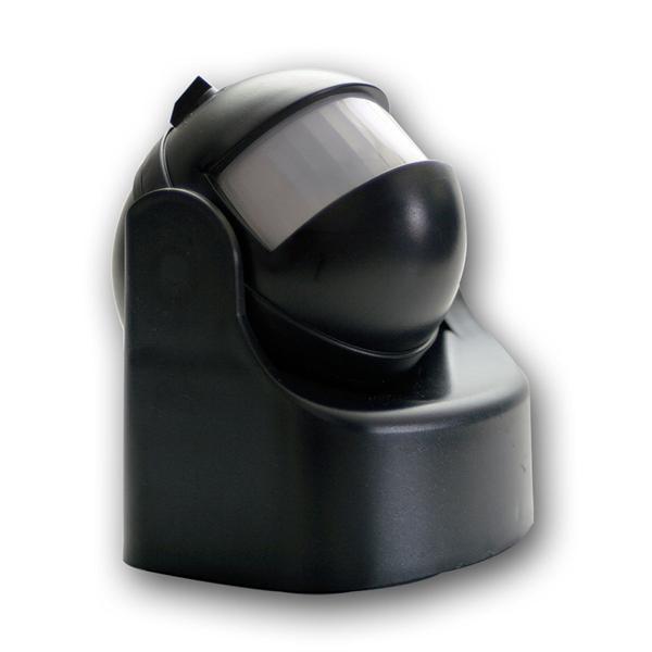 Bewegungsmelder 165° / 10m, 1200W, schwarz
