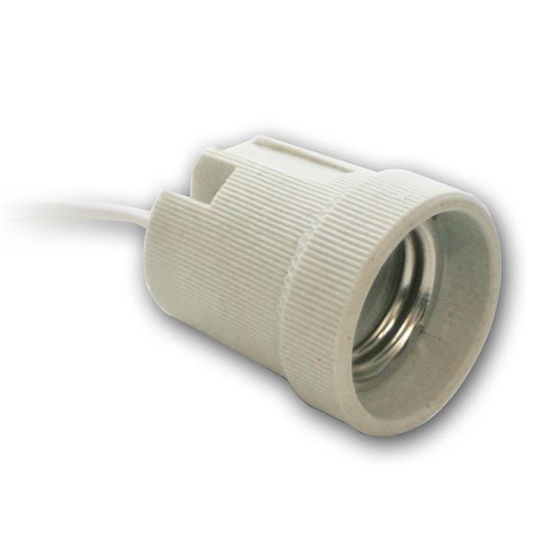 Lampenfassung E27 230V Keramik - weiß Fassung