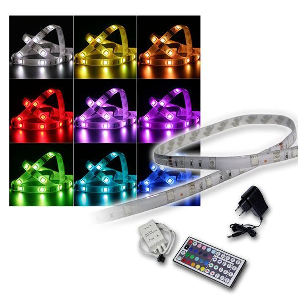 SET 1m RGB-Stripe IP44 mit Netzteil & Controller