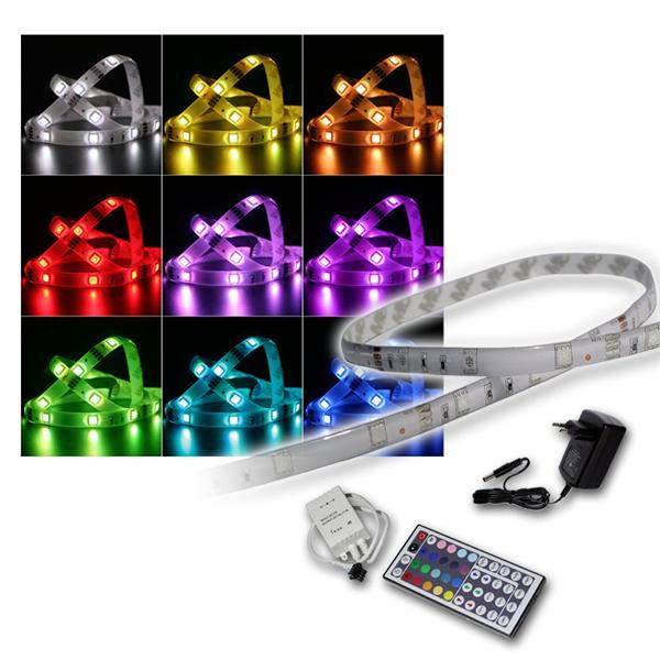 SET 2m RGB-Stripe IP44 mit Netzteil & Controller