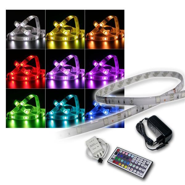 SET 5m RGB-Stripe IP44 mit Netzteil & Controller
