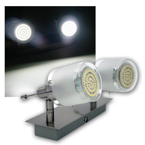 2er DESIGN LED Decken-Strahler, 60er SMDs kw, 230V