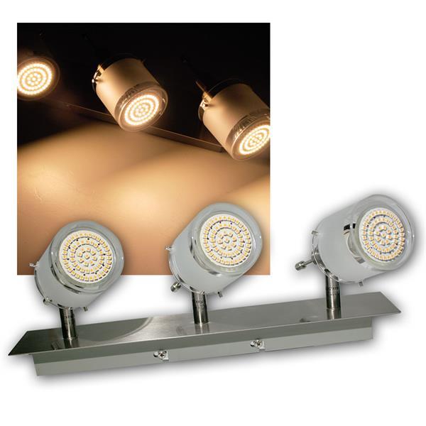 3er DESIGN LED Decken-Strahler, 60er SMDs ww, 230V