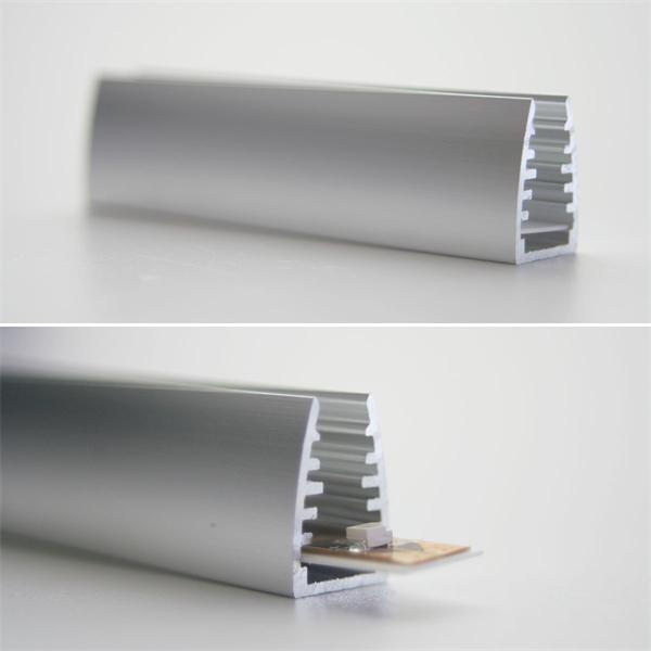 18mm hohes und 7cm kurzes Alu-Glaskantenprofil