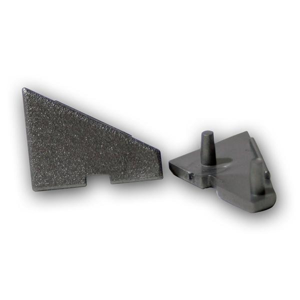 2er SET Endkappen für Winkel-Aluprofil 60°