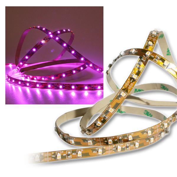 40cm Flexibler SMD Streifen Pink 24 LED / PCB-brau