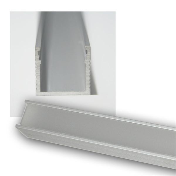 1m LED Aluminium-Profil POLARUS, lackiert, OPAL