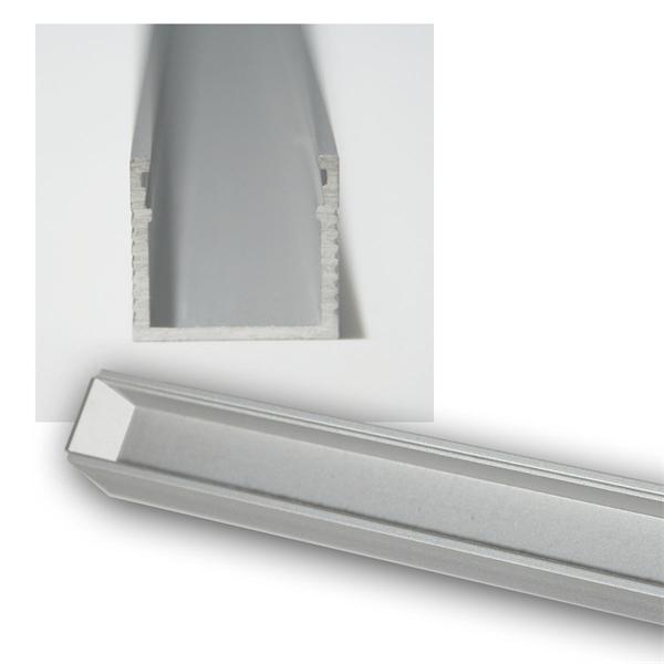 1m LED Aluminium-Profil POLARUS, lackiert, TRANSPA