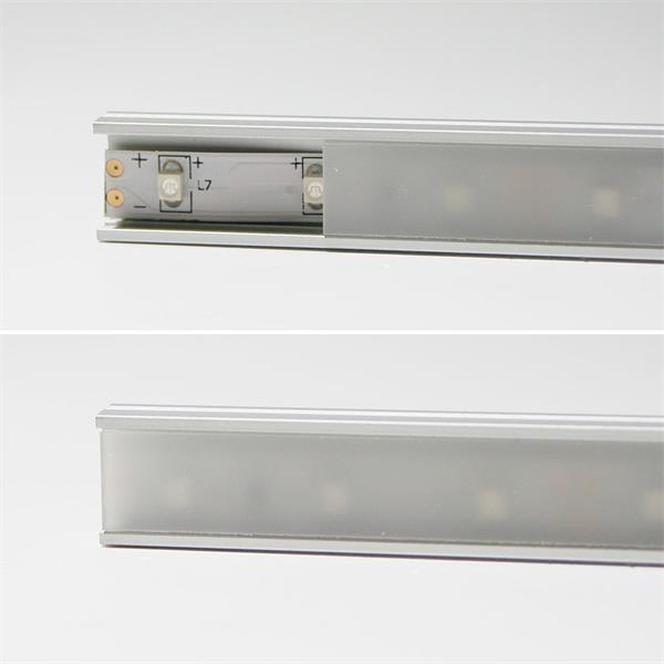 Alu-Profil mit milchiger Abdeckung für LED-Streifen