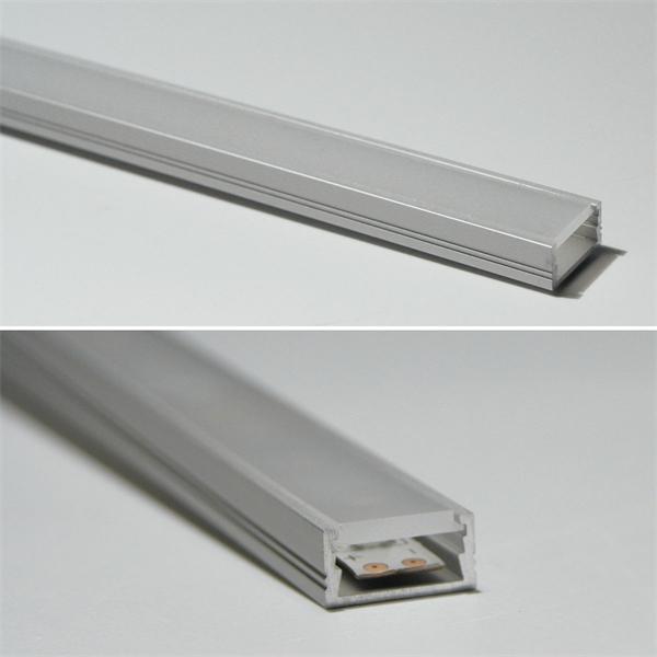 Aluminium-Profil mit milchiger Abdeckung