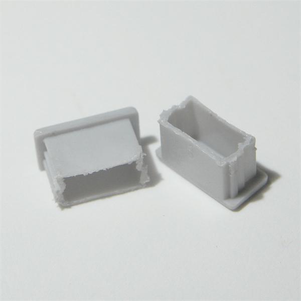 Graue Endkappe für Aluminiumprofil