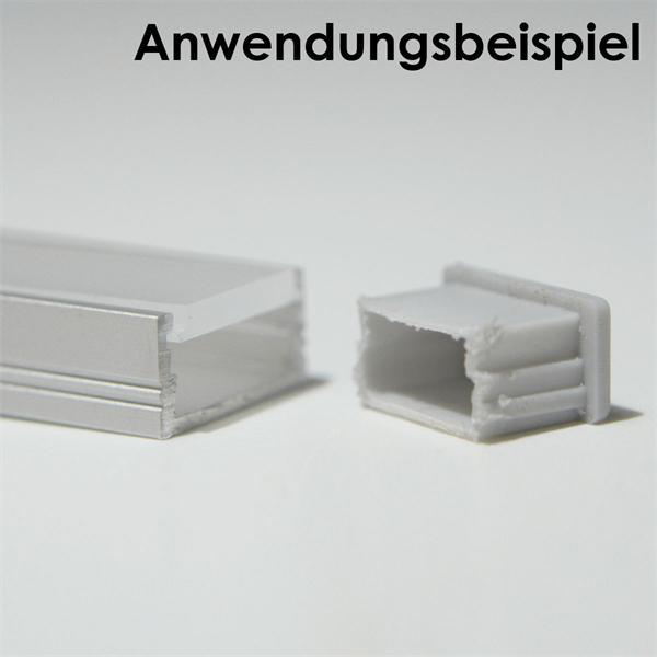 Aluprofil-Endkappe aus Kunststoff