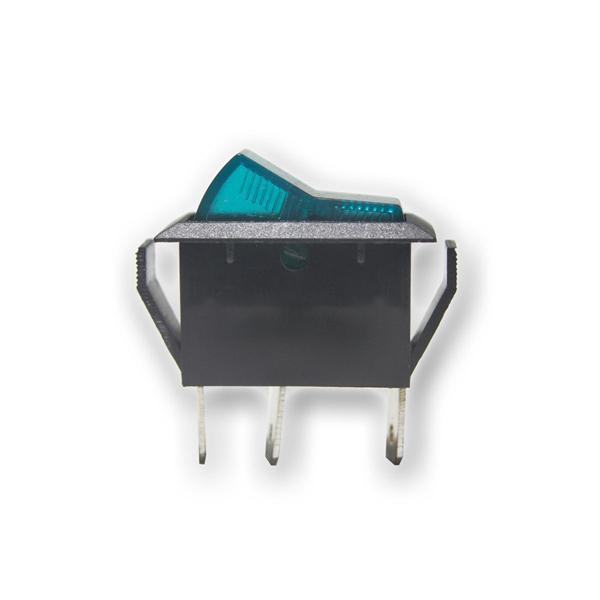 Wippschalter 1-polig, blaue Wippe, 12V/20A Kfz