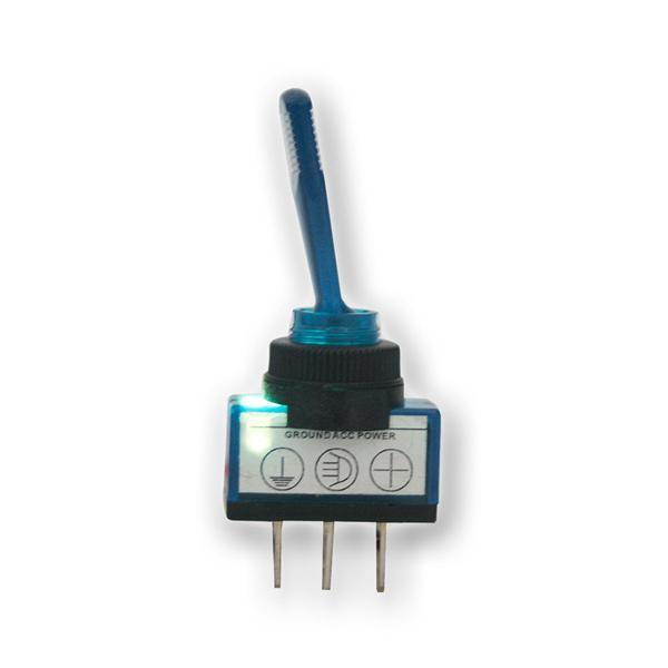 Kippschalter 1-polig, beleuchtet blau, 12V/20A Kfz