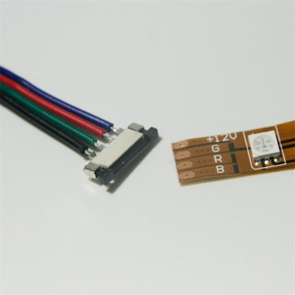 Kabel mit beidseitigen Connector Clip für RGB SMD Strips
