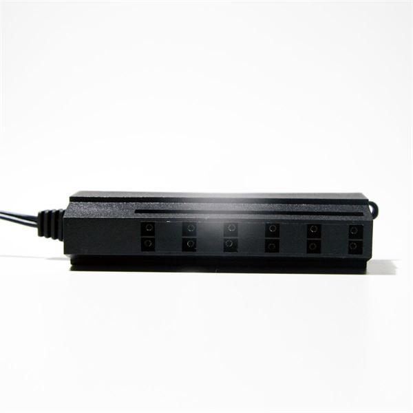 Kunststoffgehäuse mit 6 Steckplätzen für 2-polige Steckverbinder