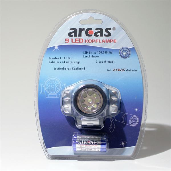 Batteriebetriebene Stirnlampe
