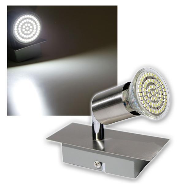 1er LED Leuchte, Edelstahl, 60er SMDs kw, 230V