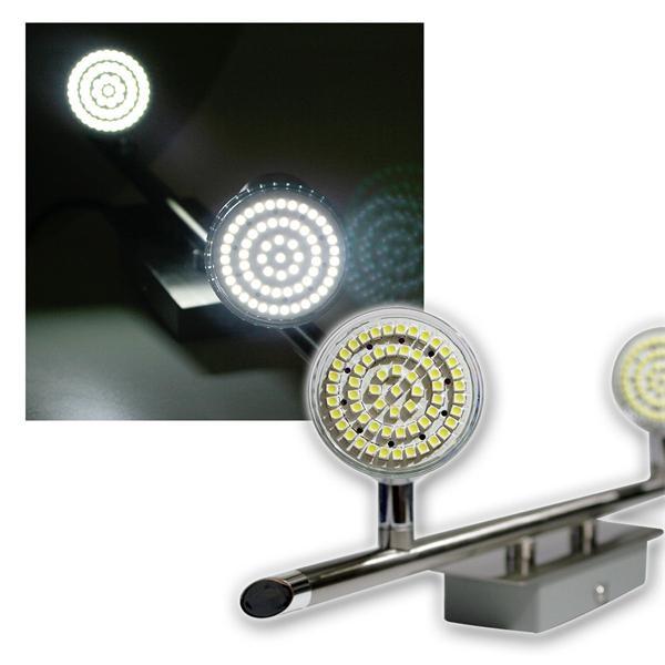 2er LED Leuchte, Edelstahl, 60er SMDs kw, 230V
