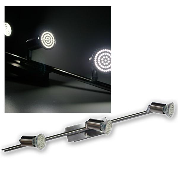 3er LED Leuchte, Edelstahl, 60er SMDs kw, 230V