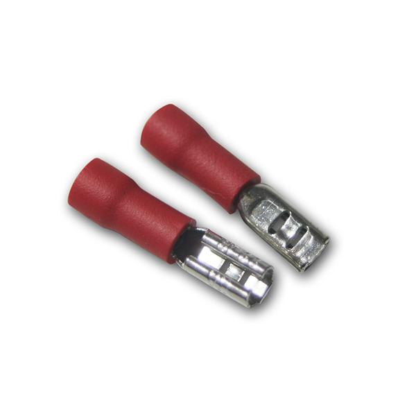 20 x Flachsteckhülse Rot 2,8x0,5mm / 0,5-1,5mm²
