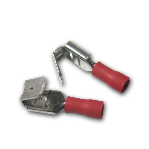 20 x Flachsteckhülse mit Abzweig Rot 0,5-1,5mm²