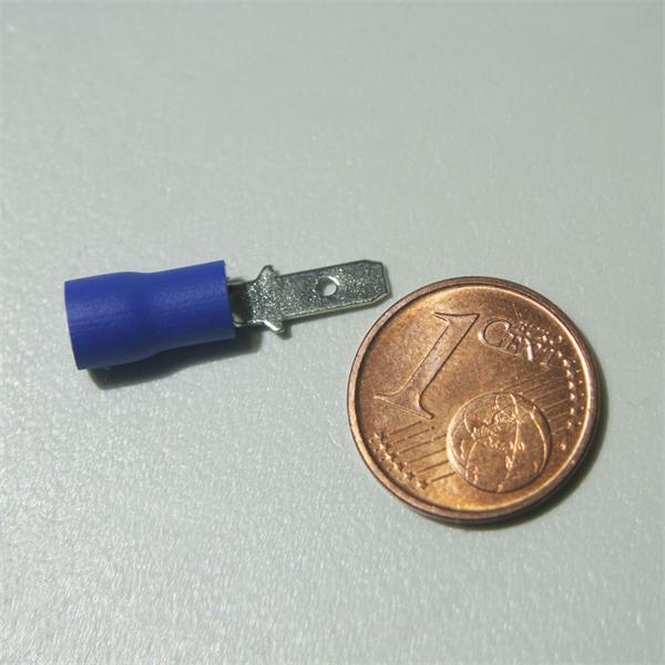 Flachstecker zum Verbinden von Kabel- oder Litzenleitungen
