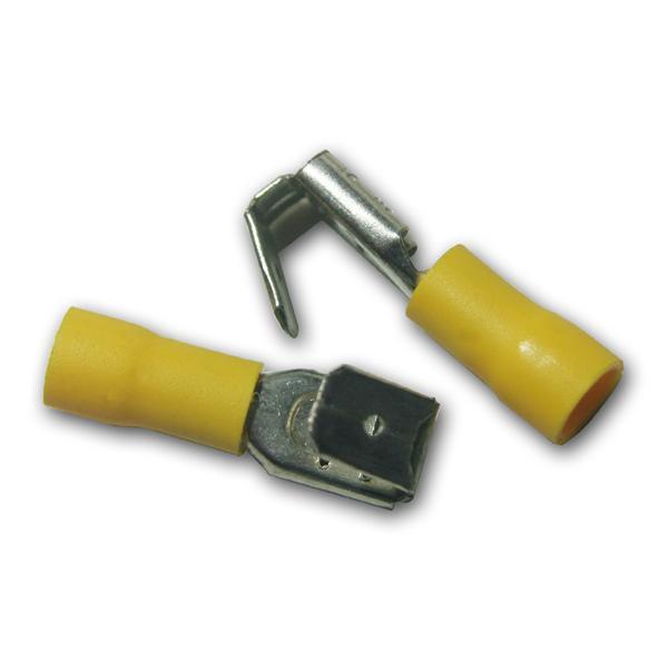 10 x Flachsteckhülse mit Abzweig Gelb 4,0-6,0mm²