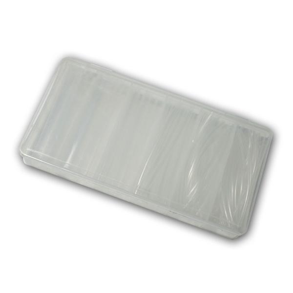Schrumpfschlauch-Sortiment, 100-teilig transparent