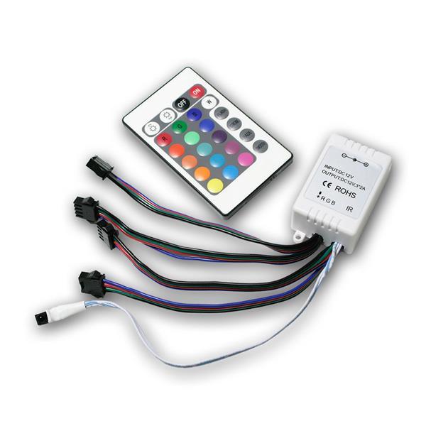 4er RGB LED Controller Farbwahl per Fernbedienung