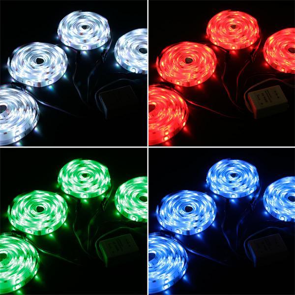 LED Dekolicht mit verschiedensten Leuchtmodis sowie LED Weißlicht-Funktion