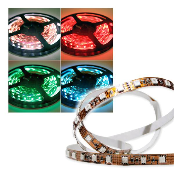 5m SMD LED FLEX-Strip RGB indoor 300 LEDs PCB-Brau